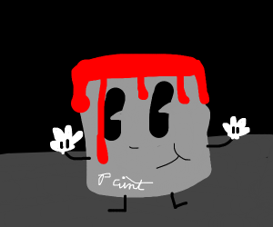 red paint man