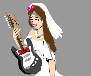 Stratocaster guitar is bridegroom