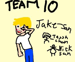 jake paul san in team 10 anime
