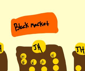 Illegal Jahcoin market