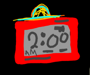An Alarm Clock With A Hat