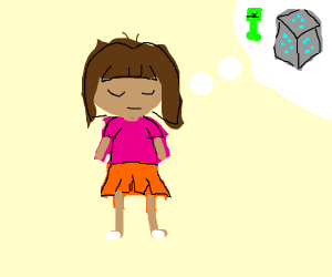 Teenage Dora dreams about diamonds