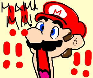Verbally surprised Mario