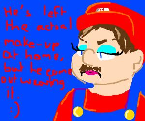 Mario without makeup