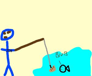 Mechanic fishing with a Dumpling