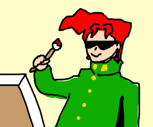 Kakyoin drawing a lovely picture