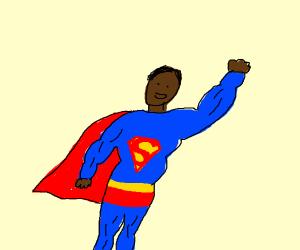 Dark skinned Superman