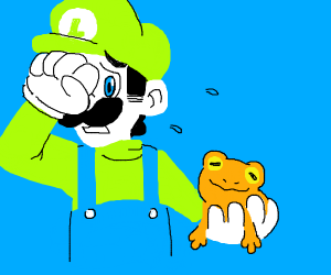 Weegee is scared of toads