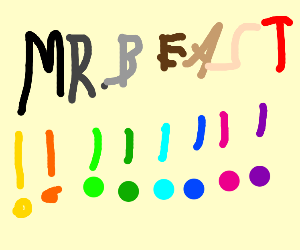 Mr. beast, in letters