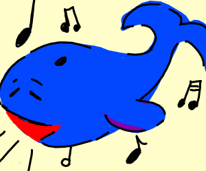 A whale happily singing
