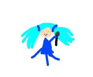 Girl with Hatsune Miku's hair