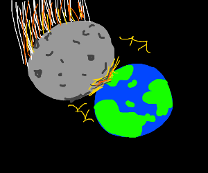 Meteor larger than Earth Hitting Earth (rip)
