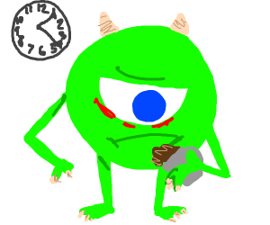 Mike Wazowski has been up all night on Coffee