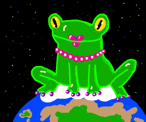lady frog wants to take over the world