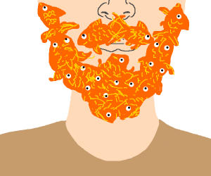 Goldfish goatee