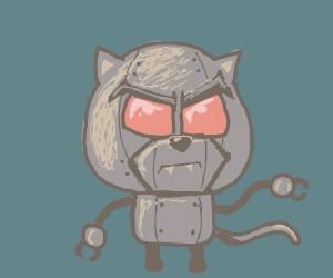 Evil robot cat