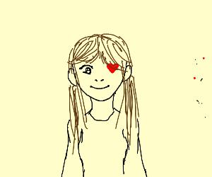 Girl with heart eye