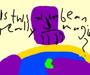Thanos discovers Magic beans