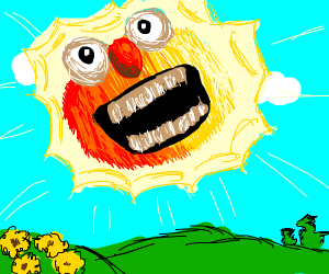 Yellmo becomes the Telletubby Sun! AAAHH!