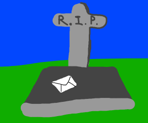 a letter on a graveyard