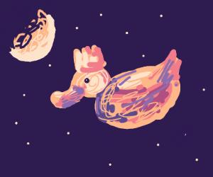 Duck Princess in the Moonlight