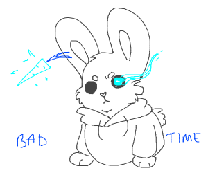 Sans as a rabbit.