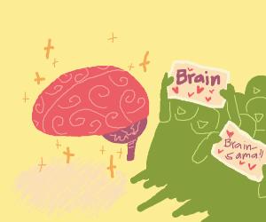 Brain has fans