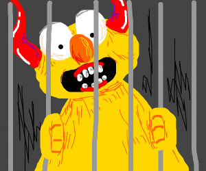 Yellmo's locked up and grew horns