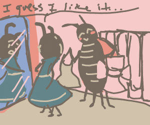 Bugs try on dresses