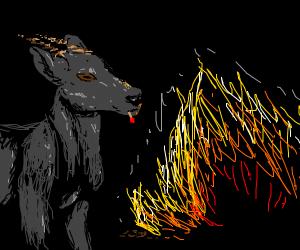 Pyromaniac Goat