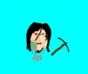 bot left quarter of the face of Norman Reedus