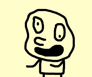 A badly drawn face