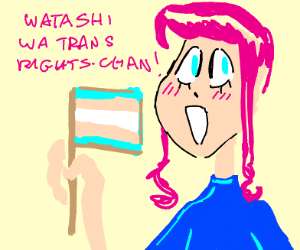 Anime trans person is proud