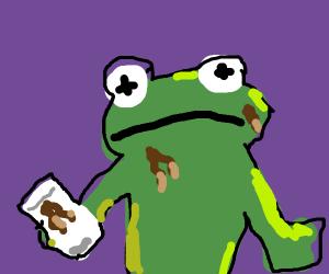 kermit splashed coffee on himself