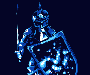 A Knight in Night Armor