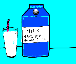 bone healing juice, aka, milk