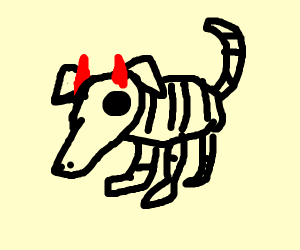 Skeleton demon dog