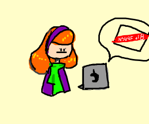 Daphne Trying To Look At Some NSFW Stuff