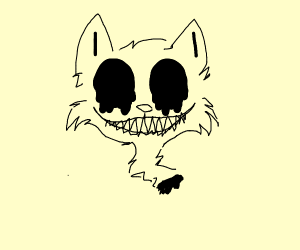 Creepy cat smile