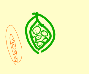 the peas have faces