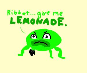 Frog thirsty for Lemonade