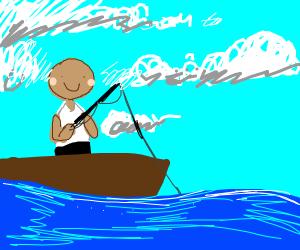 Guy fishing