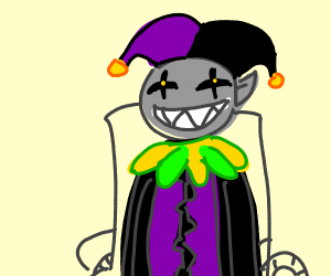 jevil is in a fricking wheelchair