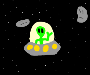 UFO in space
