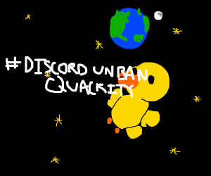 duck in space #DiscordUnbanQuackity