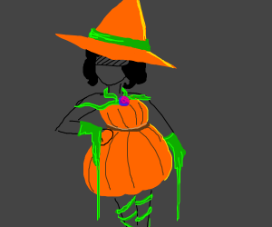 Pumpkin Witch Costume