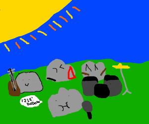 a rock, rock band