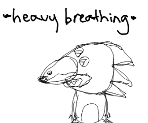 Sonic character making an unfathomable noise