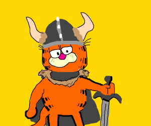 Garfield the barbarian