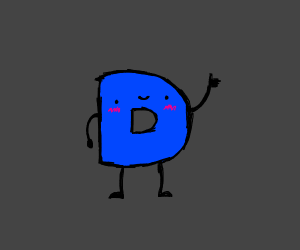 Drawception D is happy